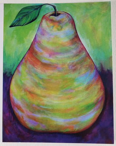 Pear Greeting Card - Artworks by Karen Fincannon