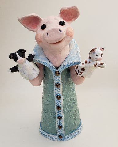 Piggly Wiggly Puppet Sculpture - Artworks by Karen Fincannon