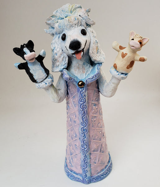 Dog and Pony Show Puppet Sculpture - Artworks by Karen Fincannon