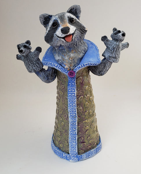 Kathy the Trash Panda Puppet Sculpture - Artworks by Karen Fincannon