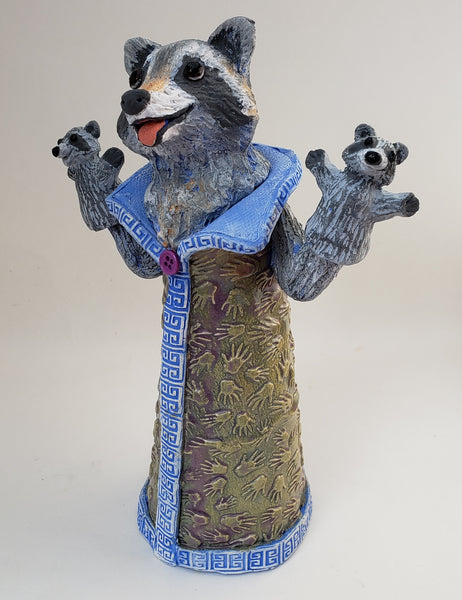 Kathy the Trash Panda Puppet Sculpture