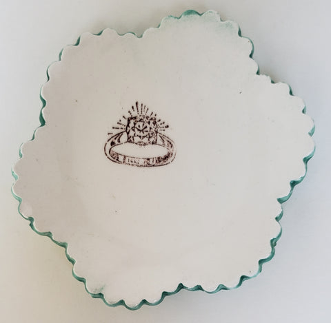 Tiny Plate with a Ring - Artworks by Karen Fincannon