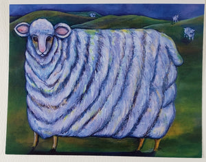 Big Sheep Greeting Card - Artworks by Karen Fincannon
