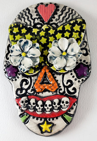 Day of the Dead Skull Black - Artworks by Karen Fincannon