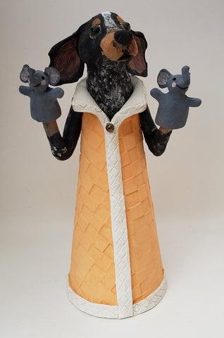 Smokey Rocky Top Puppet Sculpture - Artworks by Karen Fincannon