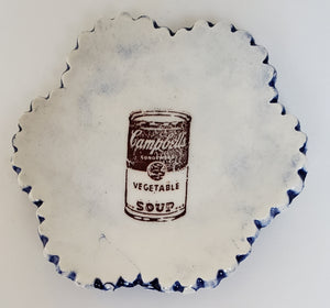 Tiny Plate with the Campbell's Soup icon - Artworks by Karen Fincannon