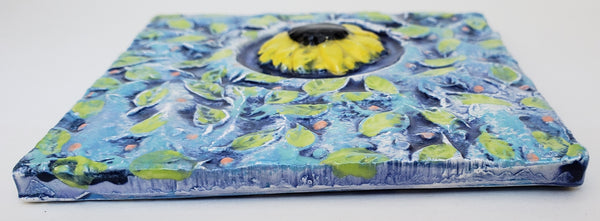 Sunflower 4x4 Ceramic Tile - Artworks by Karen Fincannon