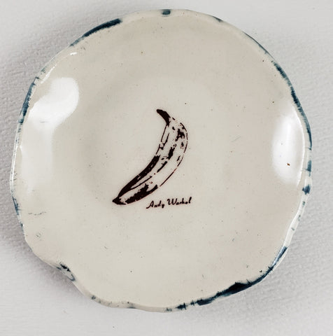 Tiny Plate with Andy Warhol's banana