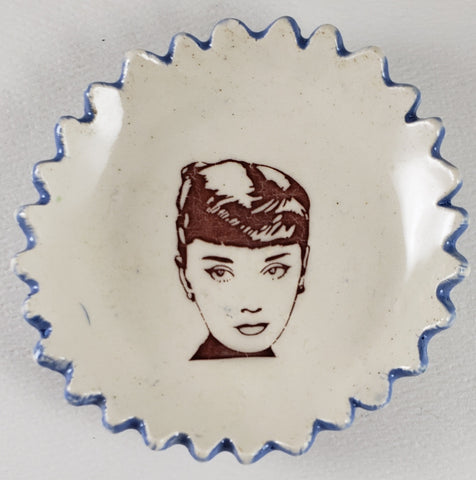 Tiny Plate with Audrey Hepburn