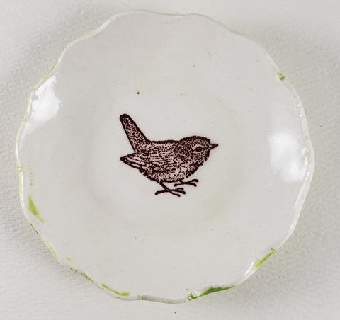 Tiny Plate with Bird