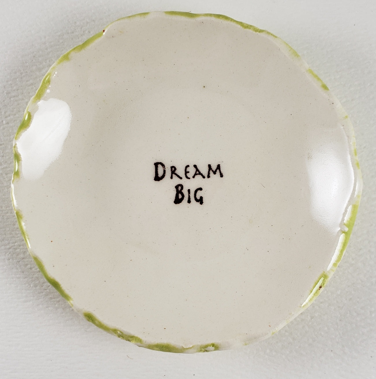 "Tiny Plate with ""Dream Big"""
