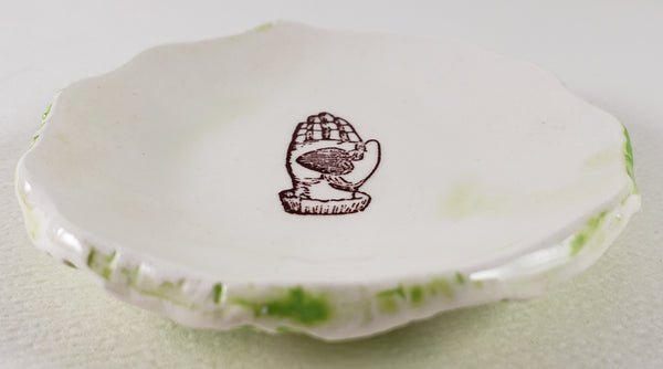 Tiny Plate with heart in hand