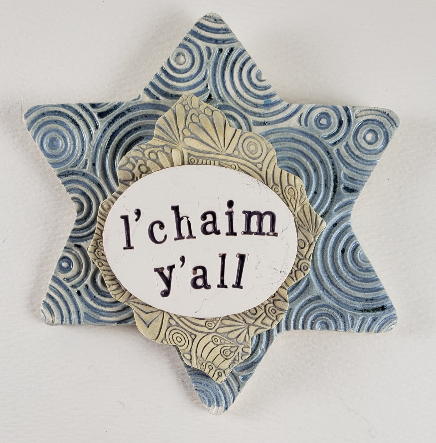 L'Chaim Y'all Word Plaque