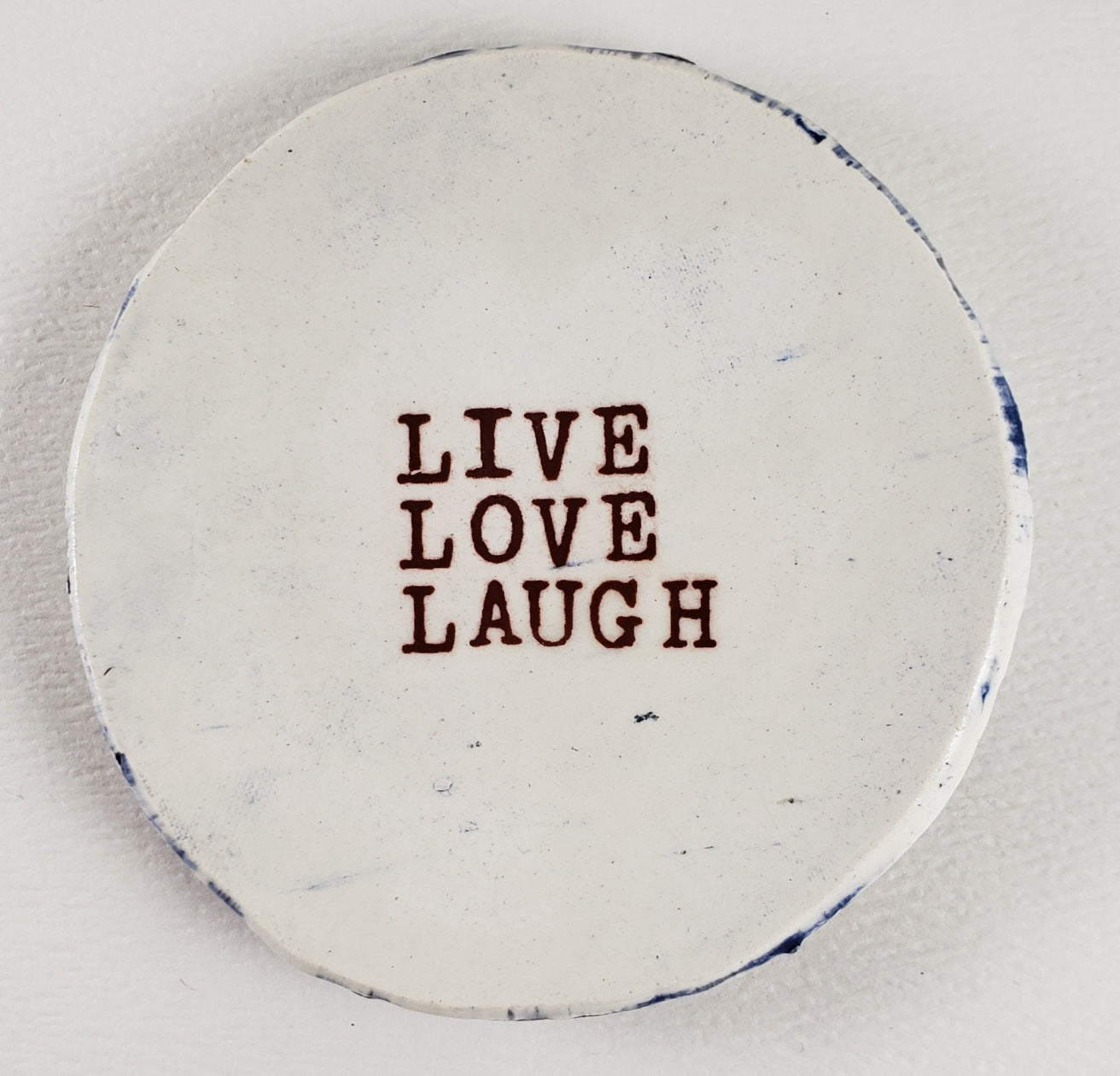 Tiny Plate with Live Love Laugh