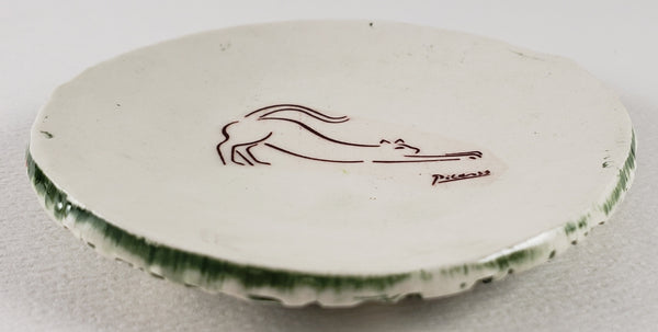 Tiny Plate with a Picasso cat drawing