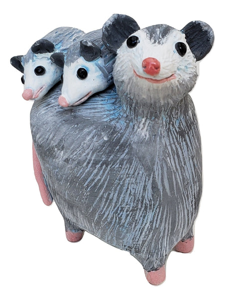 Possum with Babies - Artworks by Karen Fincannon
