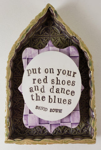 """Put on Your Red Shoes and Dance the Blues"" House - Artworks by Karen Fincannon"