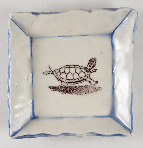 Tiny Plate with a turtle