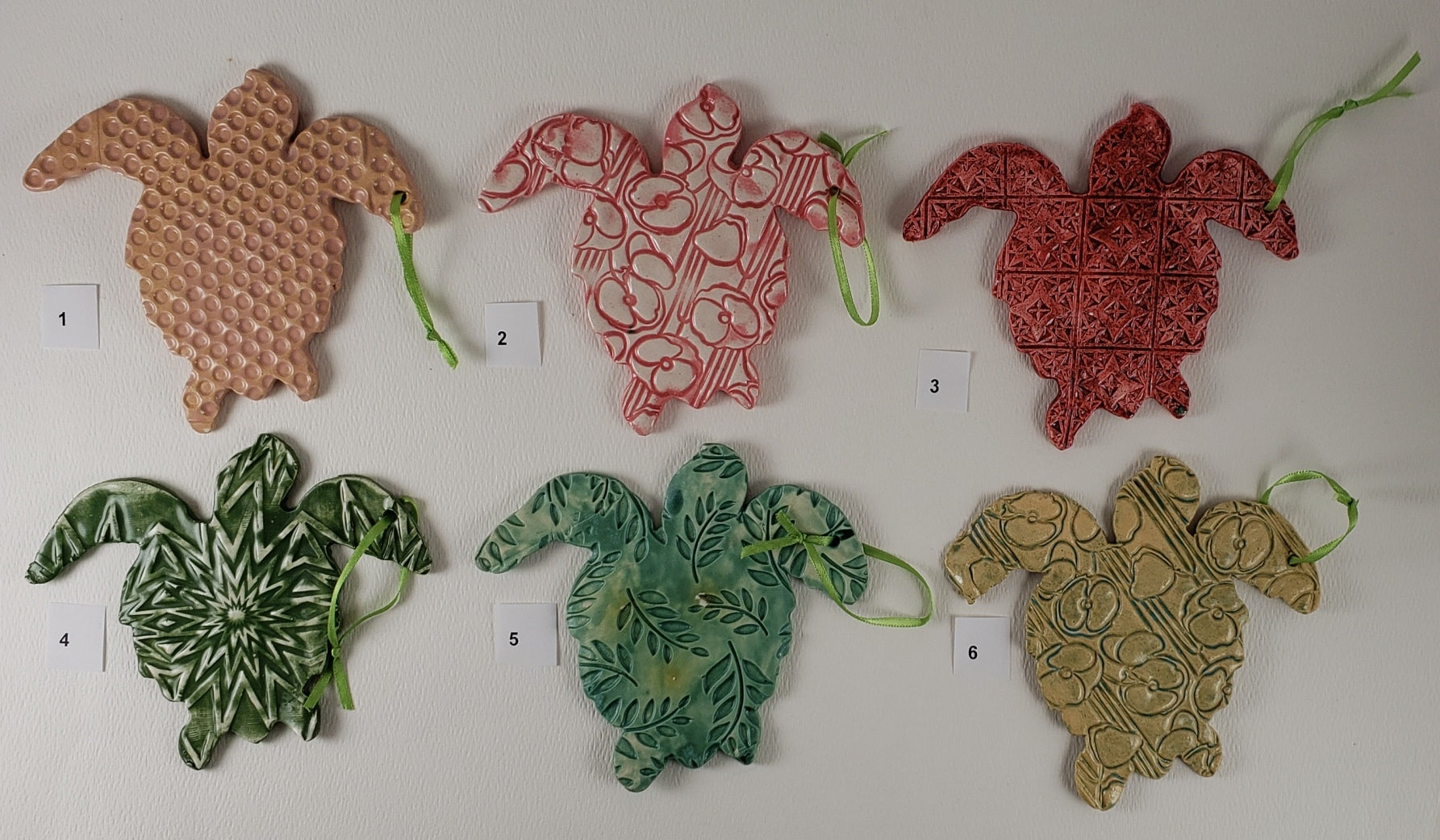Turtle Ornaments - Artworks by Karen Fincannon