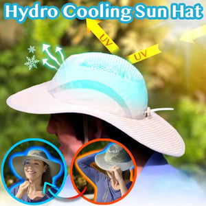 Hydro Cooling Sun Hat - Hot Selling Arctic Cap Cooling Ice Cap Sunscreen Hydro Cooling Bucket Hat Arctic Hat with UV Protection Keeps you Cool Protected