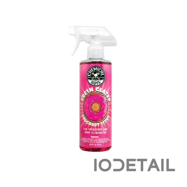 Chemical Guys Fresh Glazed Doughnut Scent and odor eliminator.