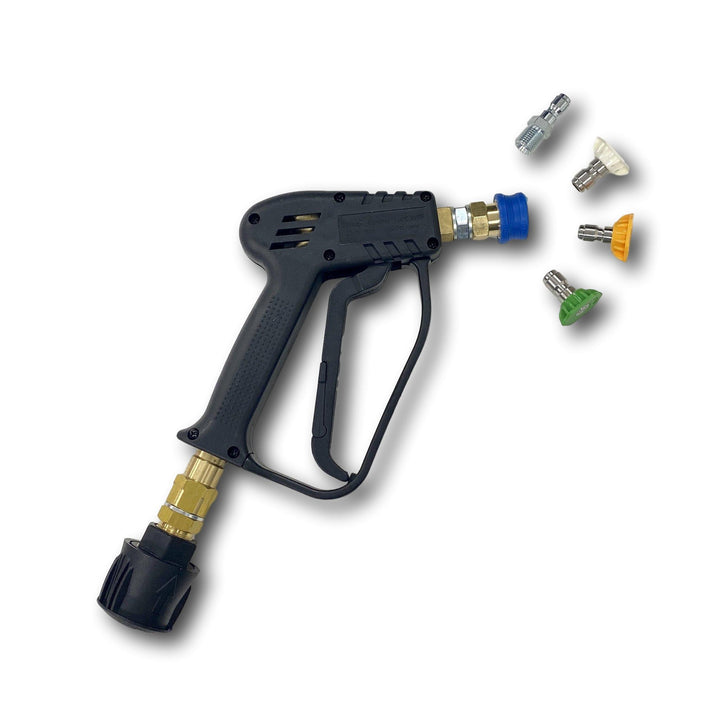 Short Trigger Jet Wash Swivel Gun with Quick Release Nozzles