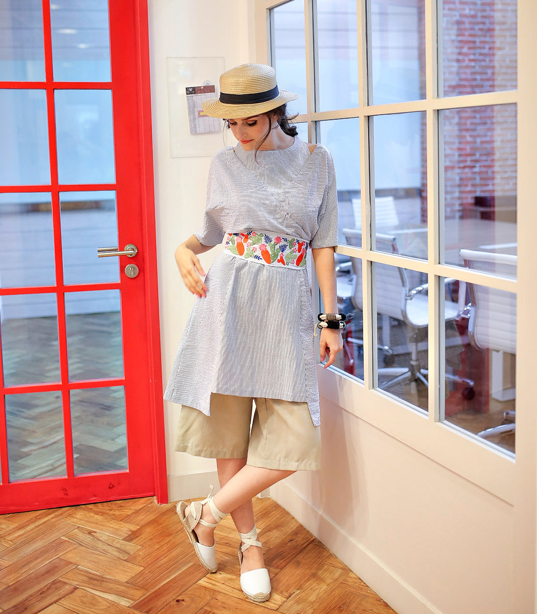 """d3a6b6ded9ba This look certainly screams """"modern prairie"""". The boxy silhouette of the  Posoltega dress works well with a pair of culottes. Highlight your ..."""