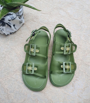 Dion Sporty Mesh Sandals (Avocado)