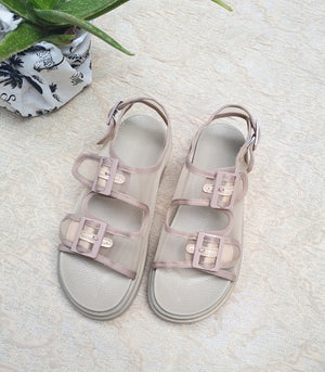 Dion Sporty Mesh Sandals (Dusty Blush)