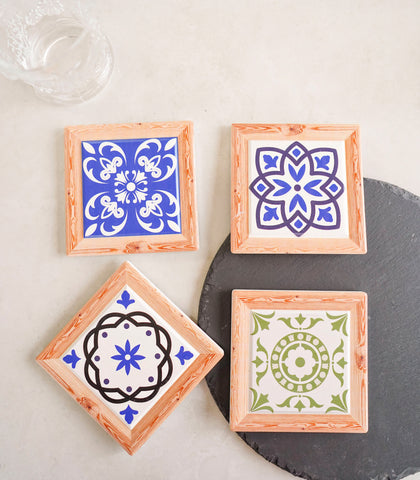 Havanato Glass Coasters Set of 4