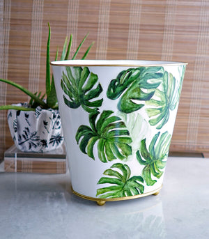 Cesto Trash Bin - Monstera