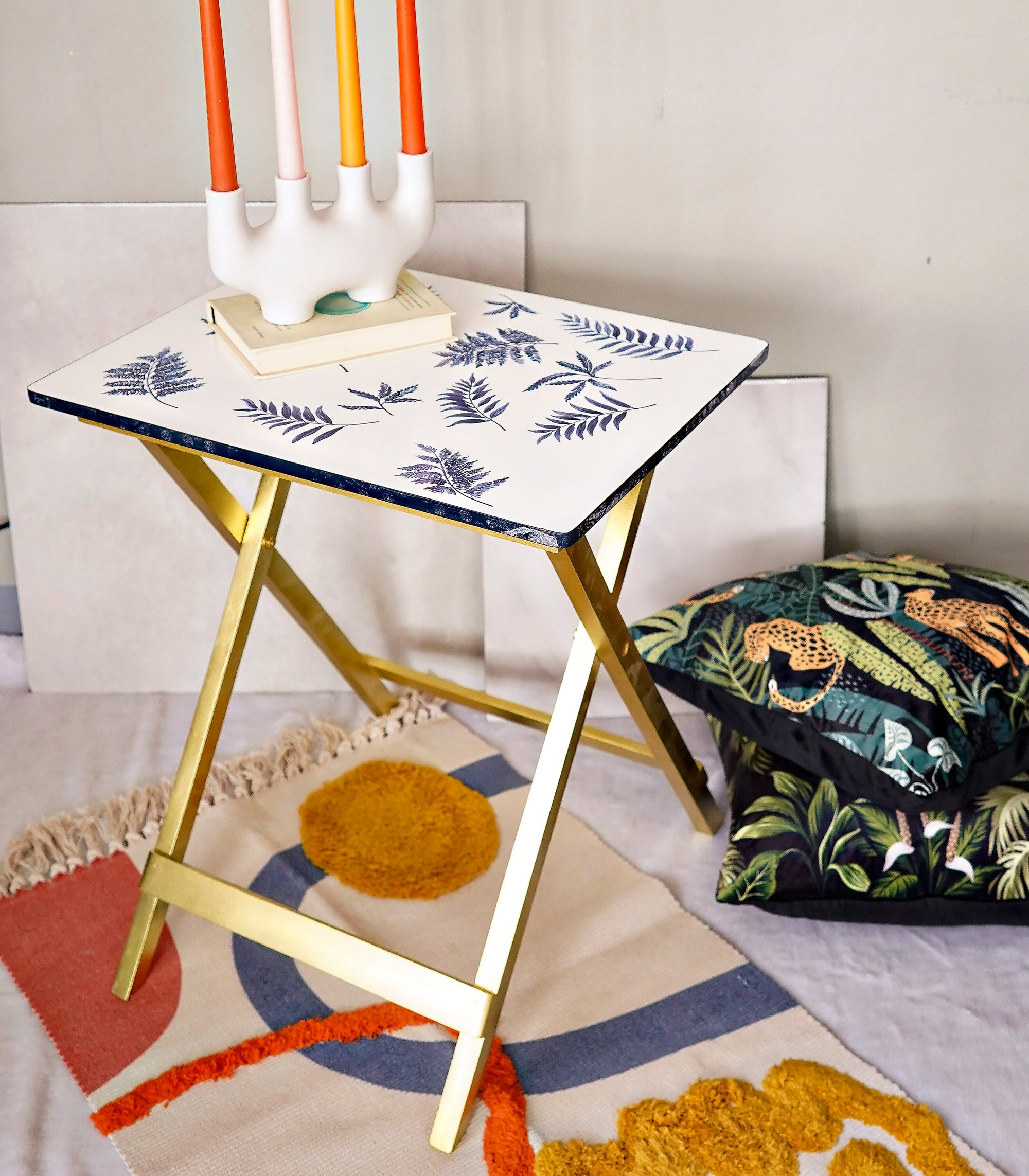 Foldable Tray Table - Blue Fern