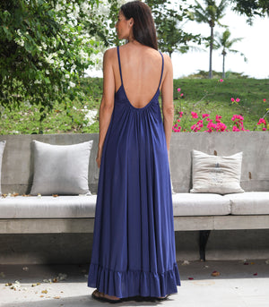 Gweta Spaghtetti Strap Maxi Dress with a Low Back