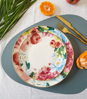 Watercolor Dinner plate and Salad plate set (set of 2)