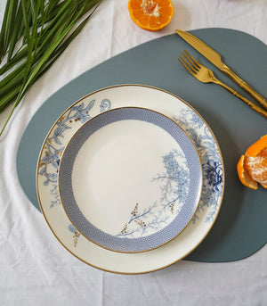 Blue Hyacinth Dinner plate and Salad plate set (set of 2)