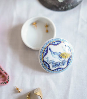 Del Prado Trinket Box- Blue Peacock