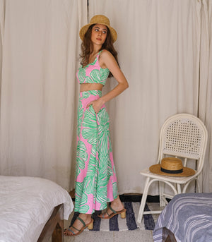 Kahaluu Top and Skirt Set (Melon)