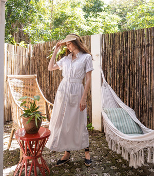 Roskilde Button Down Linen Dress