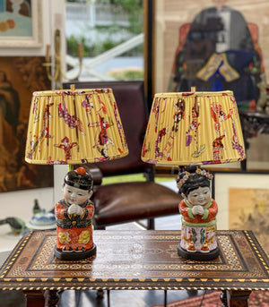 Solano Chinese Boy and Girl Lamp Set