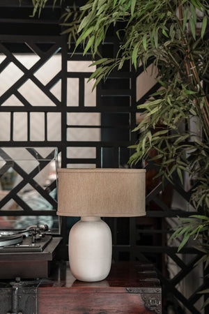 Solano Off-white Ceramic Lamp