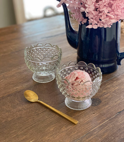 Loures Footed Ice Cream Cup (Set of 2)