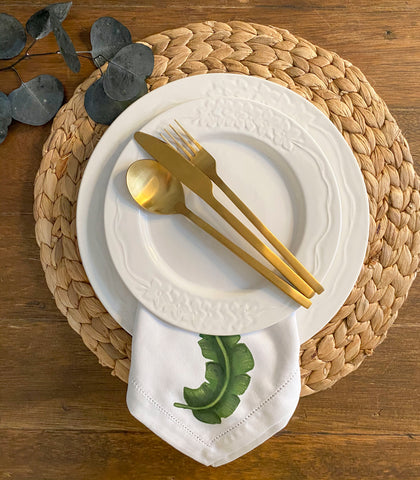 Salveta Table Napkins set of 4 - Banana Leaf