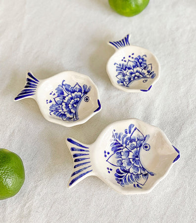 Porto Fish Sauce Dish (Set of 3)
