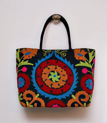 Bag - Aktan Suzani Embroidered Large Tote