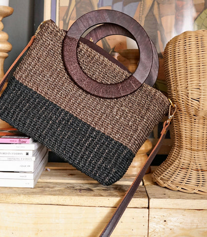 Bag - Ara Abaca Crossbody Bag (Choco Black)