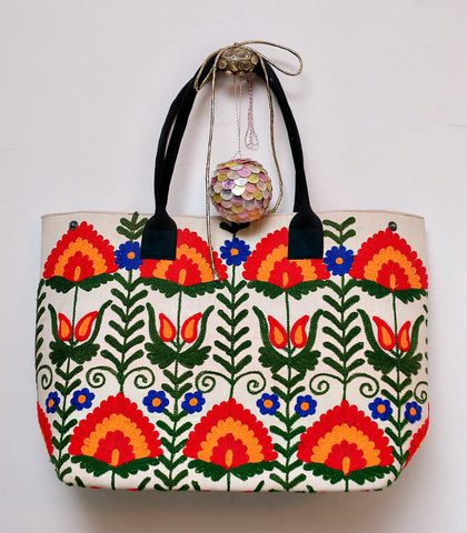 Bag - Balqash Suzani Embroidered Large Tote