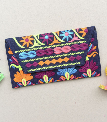 Bag - Chandika Large Embroidered Clutch