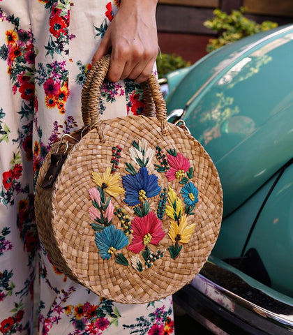 Bag - Delilah Circle Straw Bag