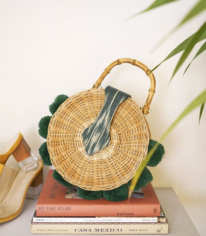 Bag - Isla Daku Round Wicker Hand Bag