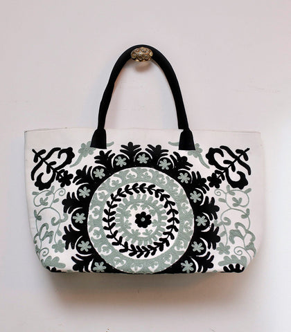 Bag - Karagandy Suzani Embroidered Large Tote